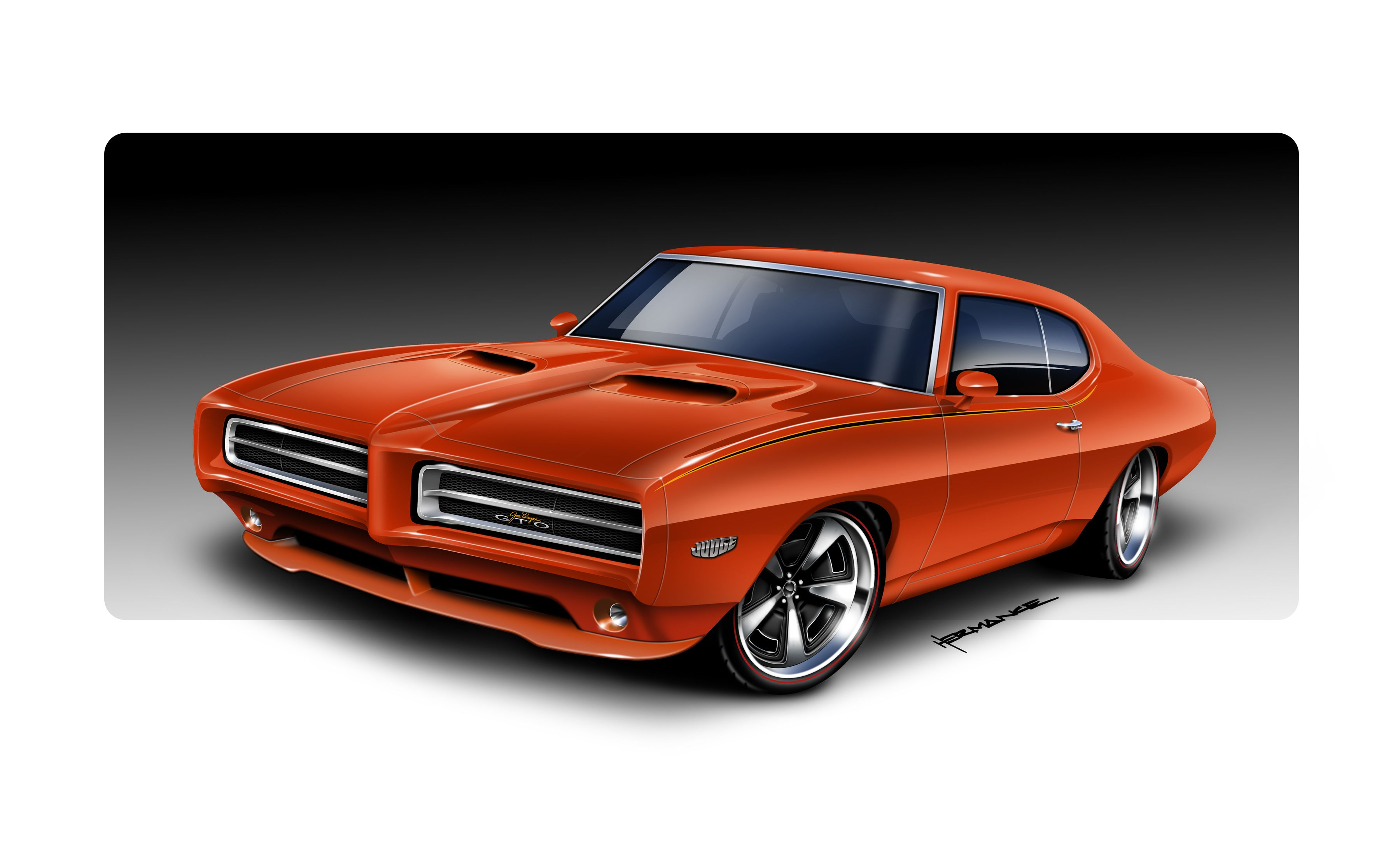 Pontiac GTO and Mustang GT